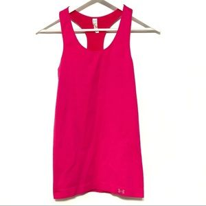 Under Armour pink razor back tank top Small